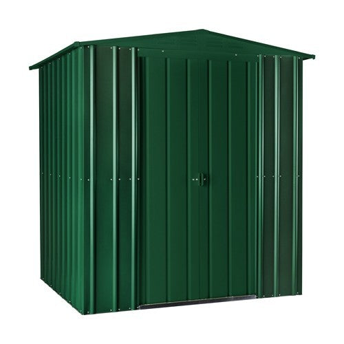 Metal Shed Lotus 6'x5' Solid Green Building Storage Steel Sheds Patio