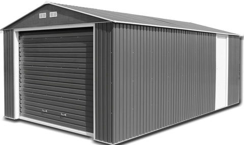 Metal Garage Olympian 12'x38' Building Steel Anthracite White Storage Apex