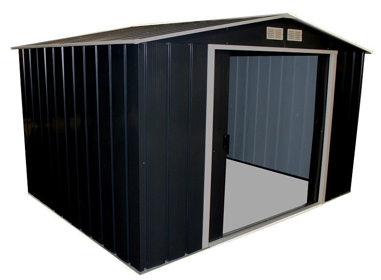 Metal Shed Sapphire 10'x8' Apex Anthracite Steel Storage Sheds Patio
