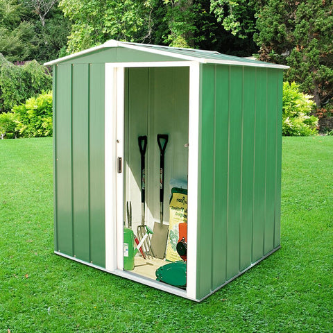 Metal Shed Sapphire 5'x4' Apex Green Steel Storage Sheds Patio