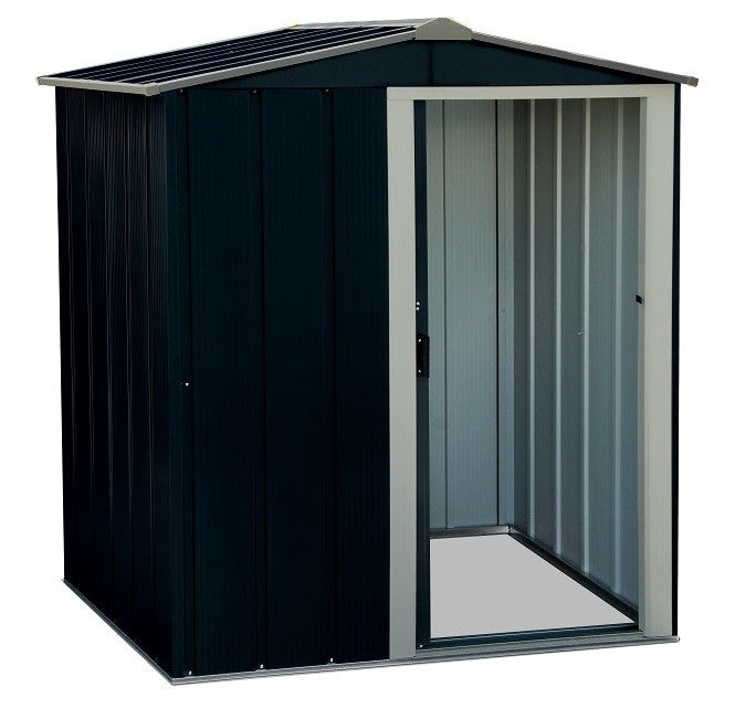 Metal Shed Sapphire 5'x4' Apex Anthracite Steel Storage Sheds Patio