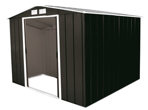 Metal Shed Sapphire 8'x8' Apex In Anthracite Steel Storage Sheds Patio