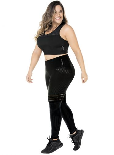 Esther-Leggings Amincissant - Grande Taille