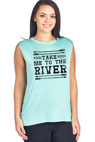 Take Me To The River Arrow Tank **Plus Size**