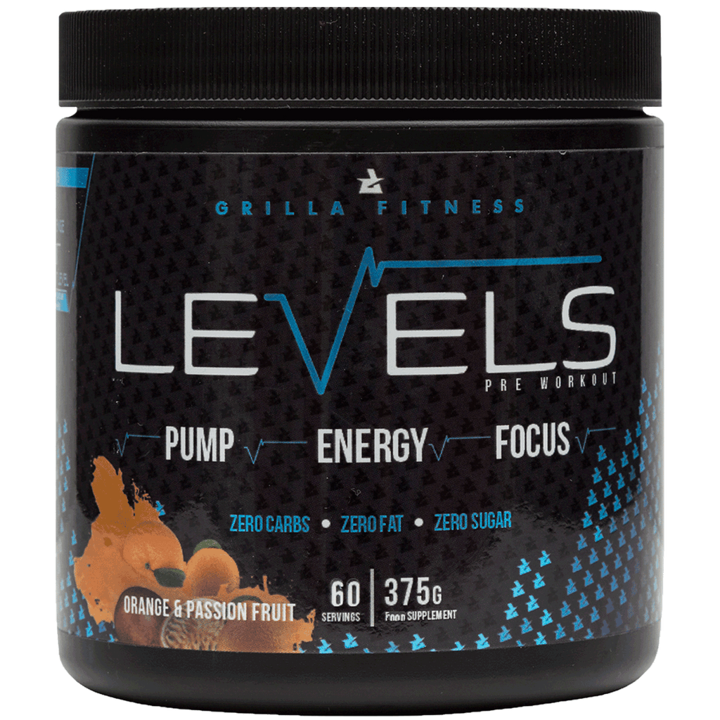 Levels Pre Workout Orange and Passion Fruit