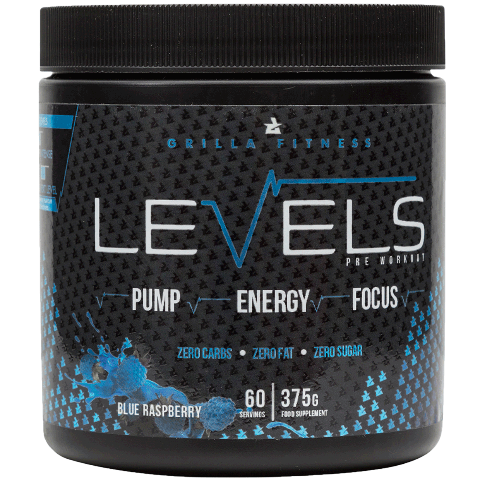 Levels Pre Workout Blue Raspberry