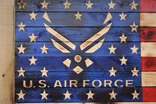 U.S. Air Force Rustic Wooden Flag