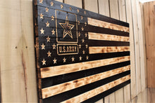 U.S. Army Rustic Wooden Flag