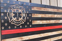 Fire and Rescue Wooden Flag