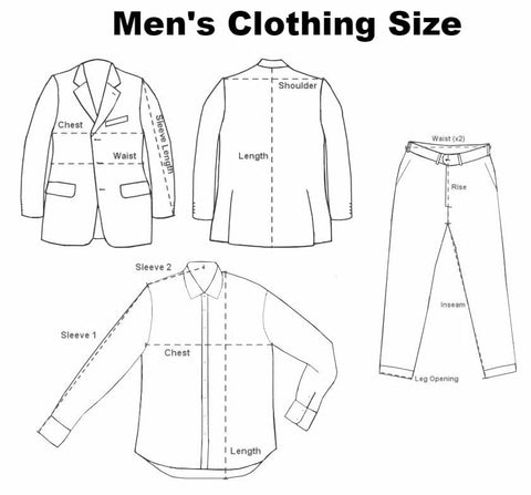 Mens Clothing Size