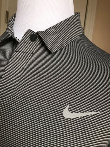 New $ 110 Tiger Woods Nike Men's Sort Sleeve T Shirt Gray Size L - BAYSUPERSTORE
