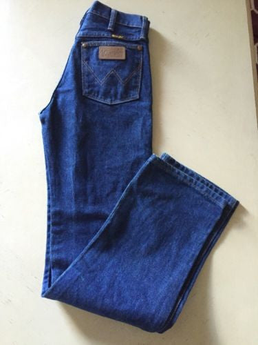 New Wrangler Men's Jeans Blue Size 27 US Made In USA - BAYSUPERSTORE