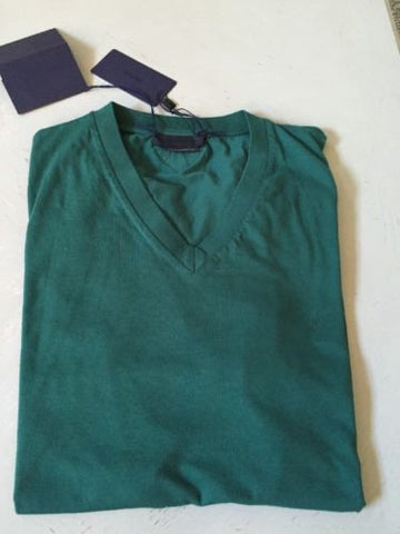 New Prada Mens Short Sleeve T Shirt Green Size L - BAYSUPERSTORE