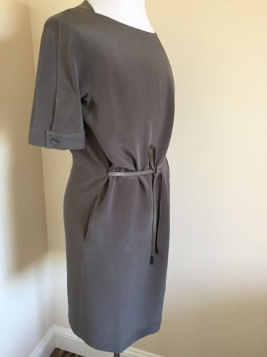 New $2395 Loro Piana Silk Dresses Gray Size 44It ( US 8 or M-L ) Italy - BAYSUPERSTORE