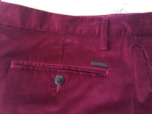 New $635 Dsquared 2 Dress Pants Burgundy 36 US ( 52 Eur ) Italy - BAYSUPERSTORE