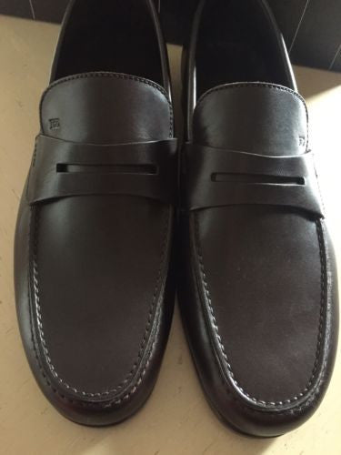 New $565 Ermenegildo Zegna Leather Shoes Dark Brown 6.5 US Italy - BAYSUPERSTORE