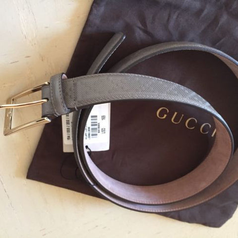 NWT $ 465 Gucci Mens Genuine Leather Belt Size 100/40 Italy - BAYSUPERSTORE