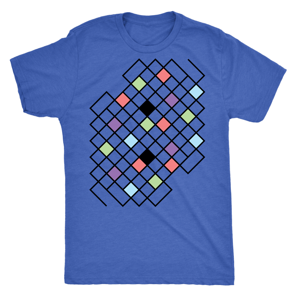 Next Level 'Geometric Pattern' Men's Triblend T-Shirt - BAYSUPERSTORE