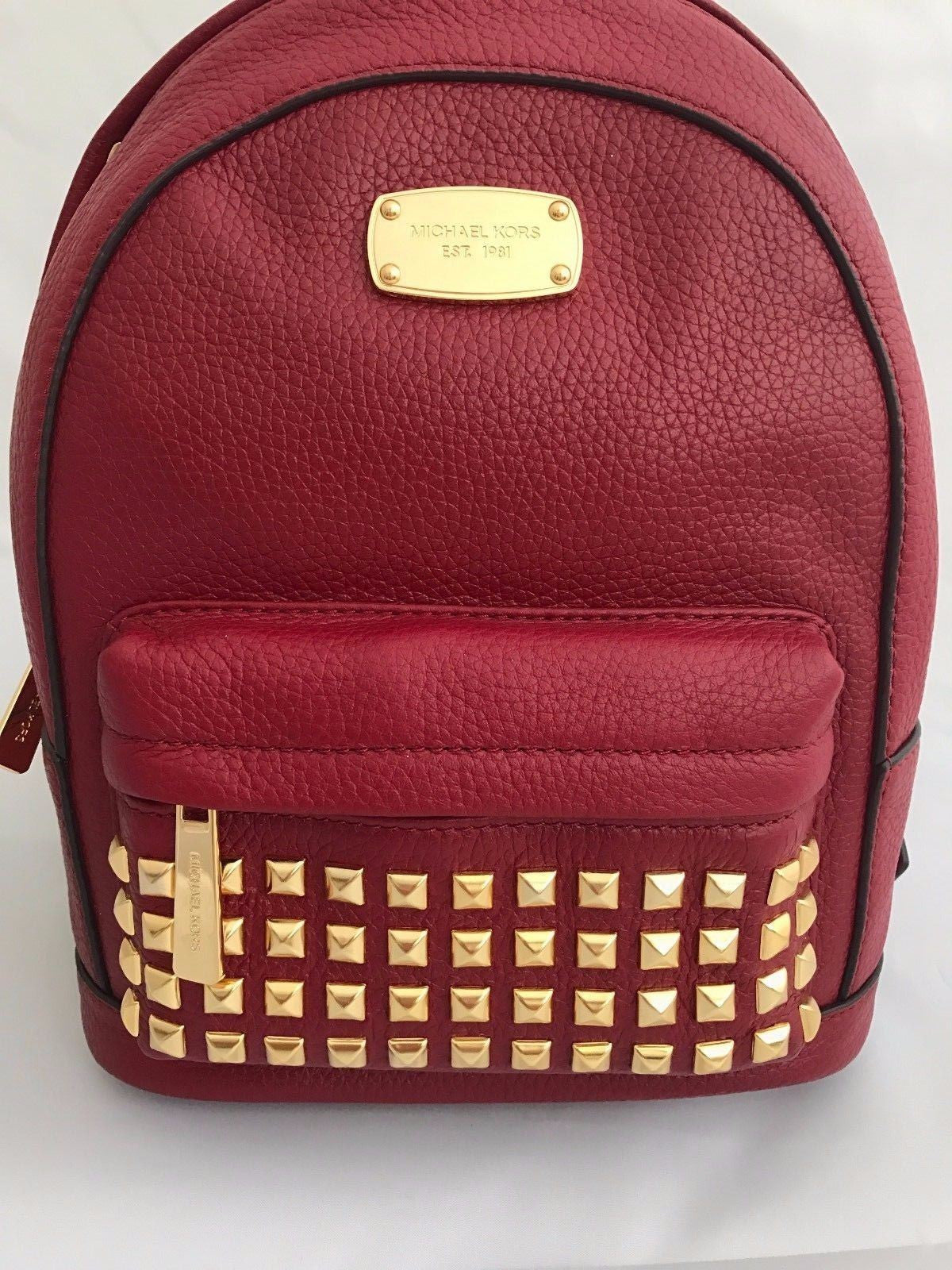 MICHAEL KORS Cherry XS Gold Studded Backpack Leather NWT Retail $328 35H6GTTB5L - BAYSUPERSTORE