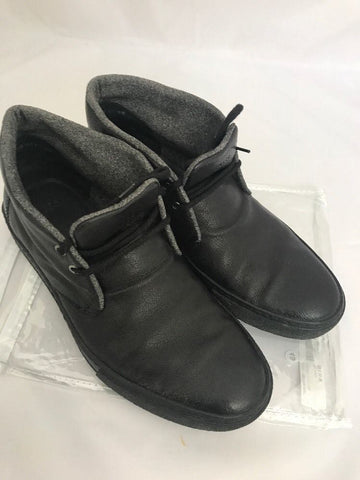 BOSS Black Men's Llama Leather Dessert Boots Black 8.5 (9.5 US) 50226948 Italy - BAYSUPERSTORE