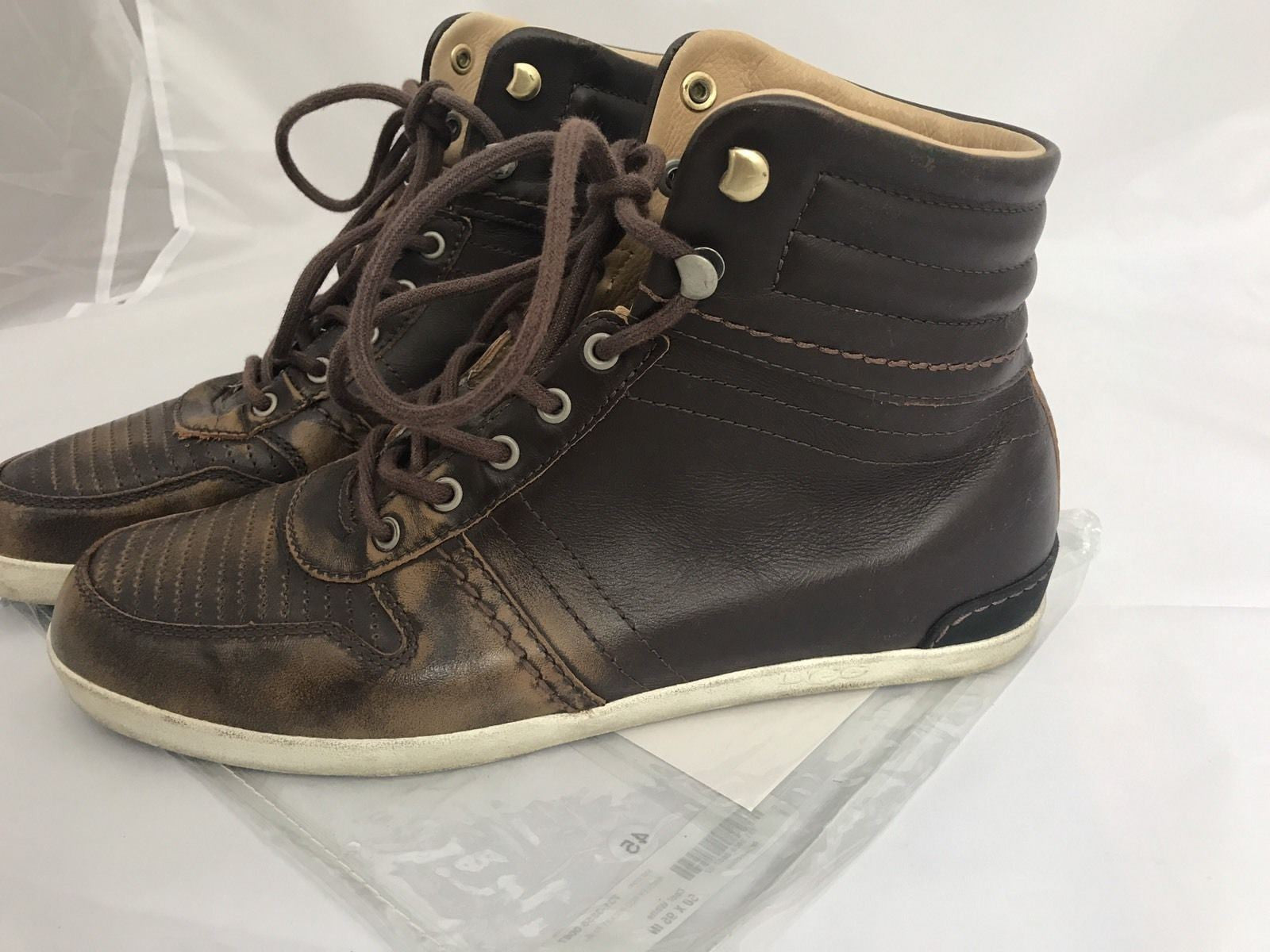 UGG Australia Men's Stylish Leather Boots Brown 9.5 US (42.5 Euro) - BAYSUPERSTORE