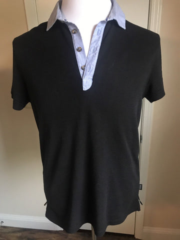 BOSS Hugo Boss Black Short Sleeve Slim Fit Polo Shirt Large - BAYSUPERSTORE