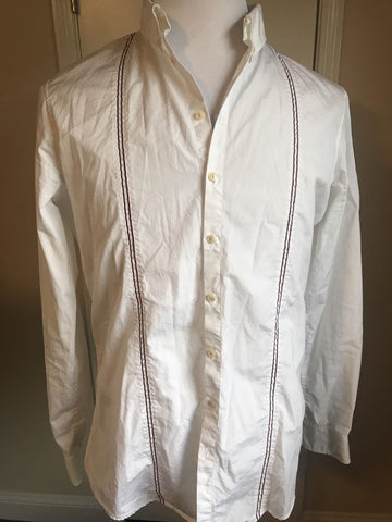 DSQUARED² Unique Men's White Dress Shirt Size 52 It Made In Italy - Rare - BAYSUPERSTORE