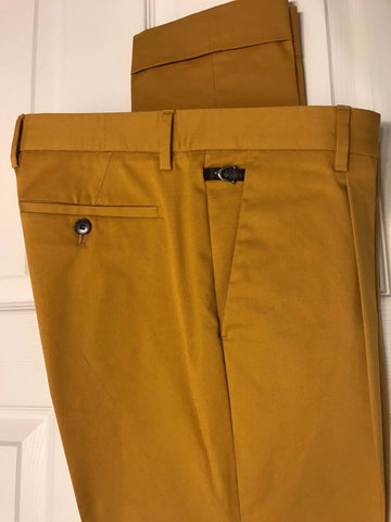Retail Price $680 Gucci Men's Riding Pants Yellow 48 Euro (32 US) Made in Italy