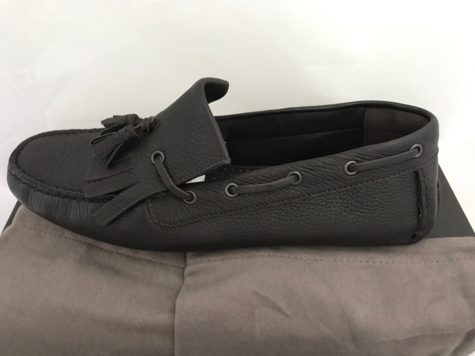 NIB $660 Bottega Veneta Mens Leather Driver Shoes Loafers Brown 8.5 US (41.5 Eu) - BAYSUPERSTORE