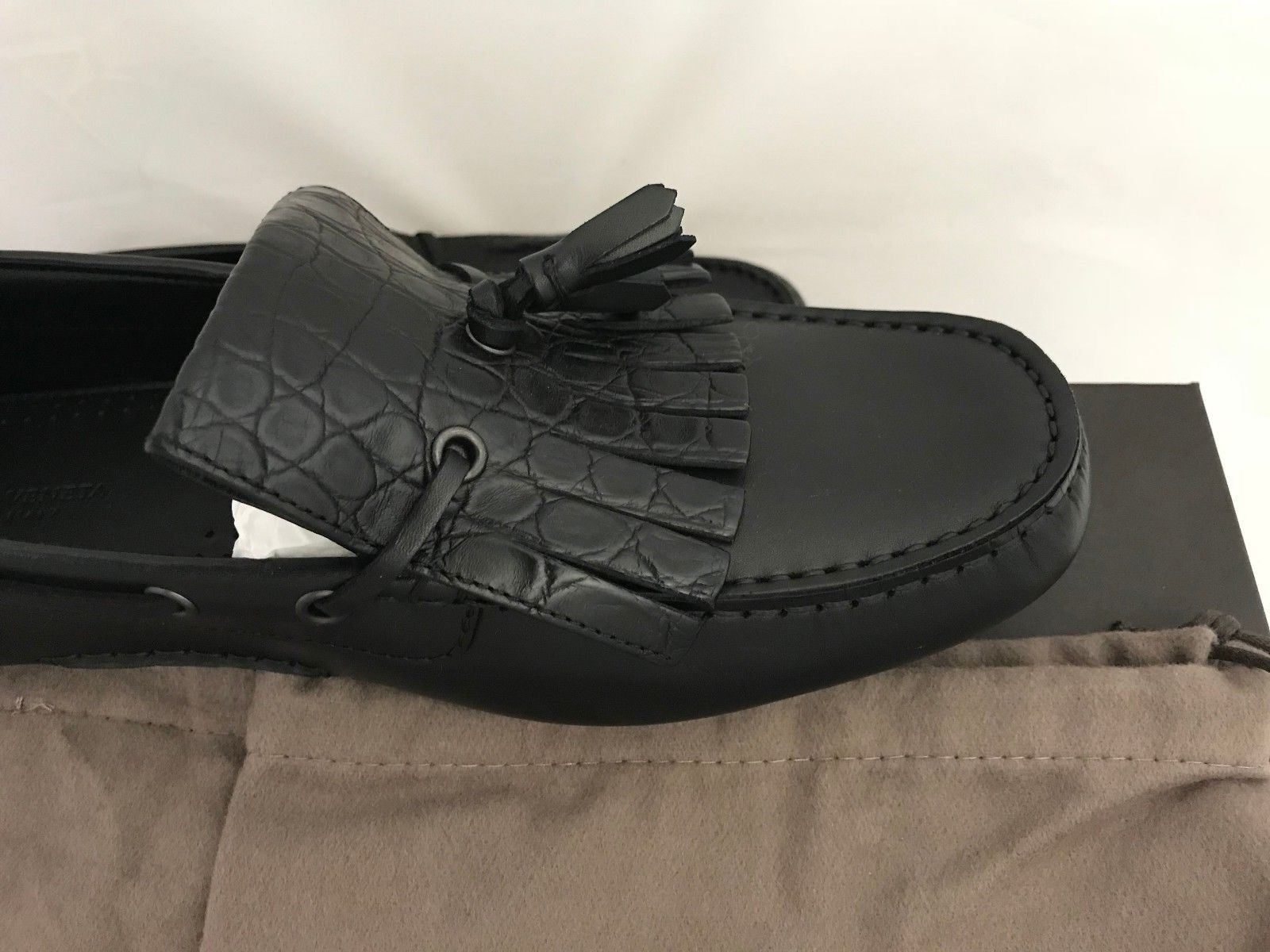 NIB $860 Bottega Veneta Mens Leather Jungle Calf Shoes Black 8 US (41 Eu) - BAYSUPERSTORE