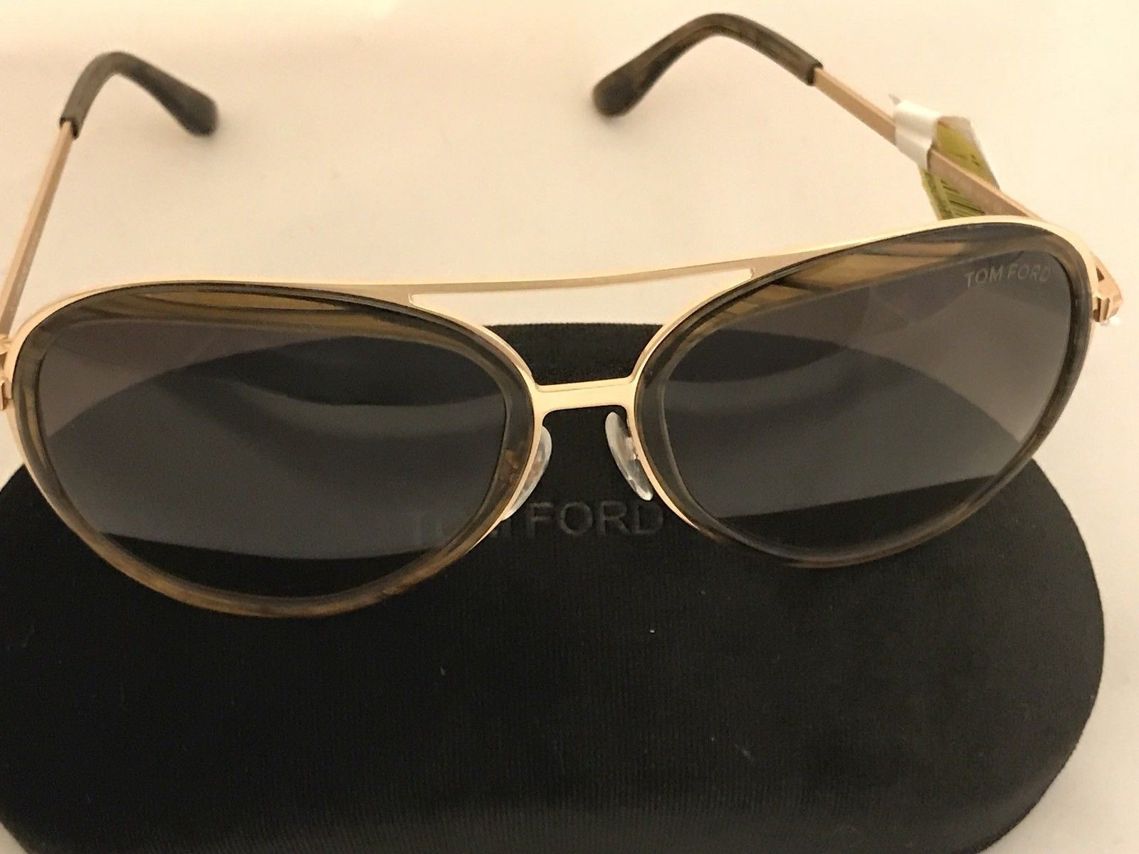 NWT TOM FORD Sunglasses Andy TF468-41K Rose Gold-Havana with Brown-Gradient Lens - BAYSUPERSTORE