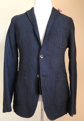 NWT Boss Hugo Boss Marquel15-W Slim Fit Linen/Cotton Jacket Blazer 44R US Blue