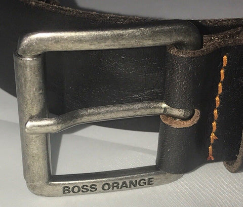 NWT BOSS Hugo Boss Milok-X Genuine Leather Belt Size 38/100 Handmade in Italy