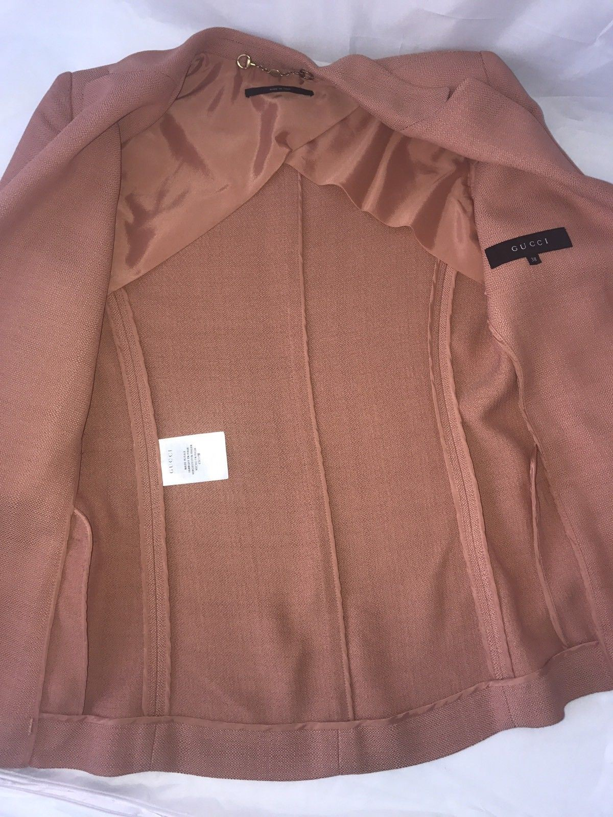 GUCCI Women's Jacket Blazer Size 2 (38 Euro) Made In Italy - BAYSUPERSTORE