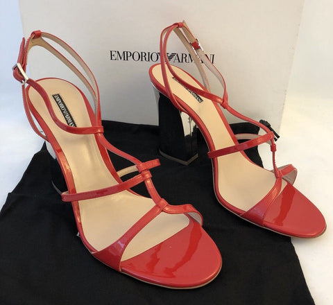 NIB $655 Emporio Armani Leather Women's High Platform Dress Shoes 9 US X3P542 IT - BAYSUPERSTORE