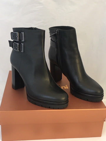 NIB $745 Baldinini Women's Black Platform Heeled Boots Shoes 37 Eu Italy 749820 - BAYSUPERSTORE