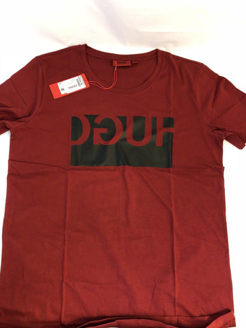 NWT $65 BOSS Hugo Boss Doguh Short Sleeve Graphic T-Shirt Red L