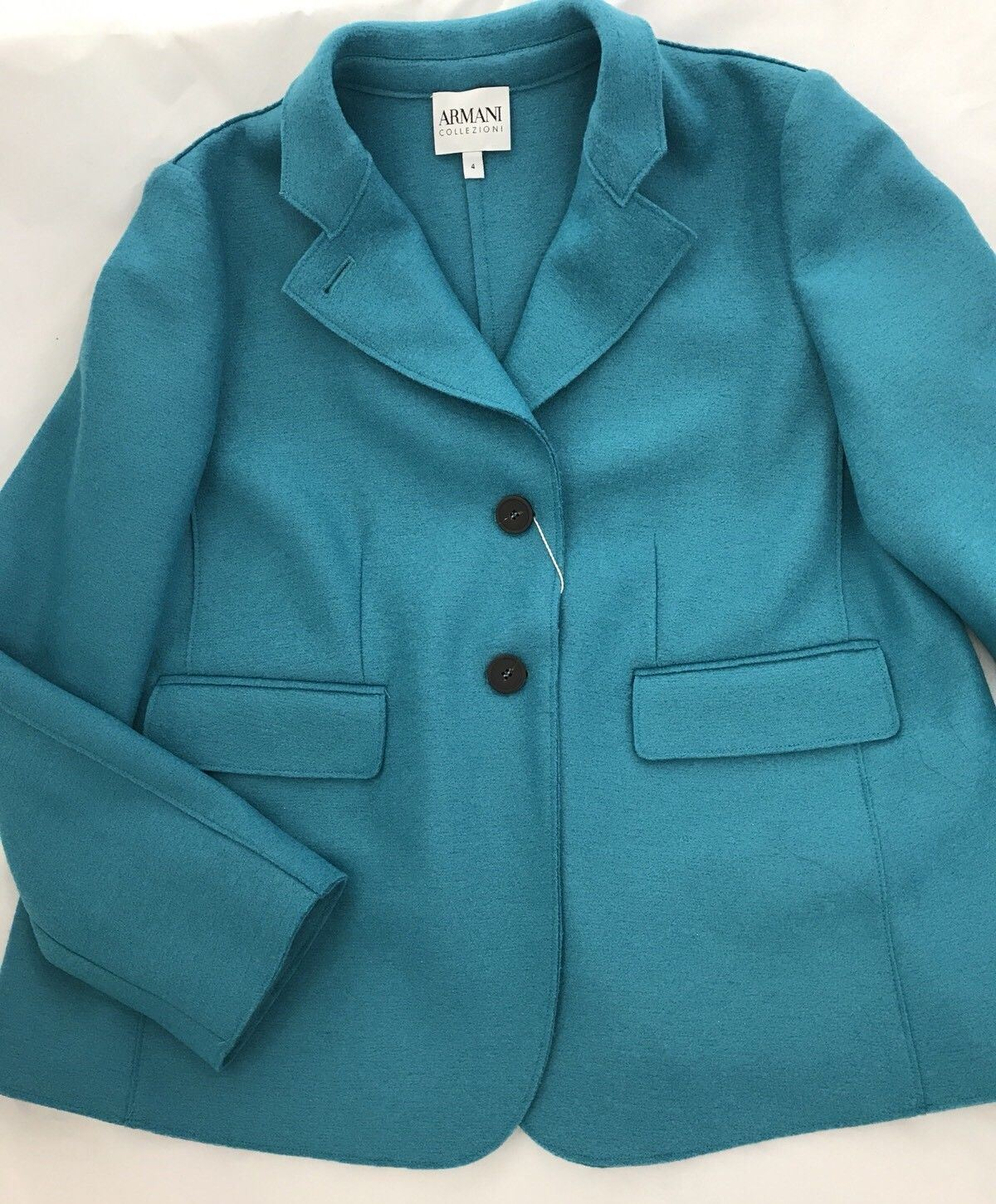 NWT $1195 Armani Collezioni Women's Caban Coat Size 4 (40 Euro) 100% Wool - BAYSUPERSTORE