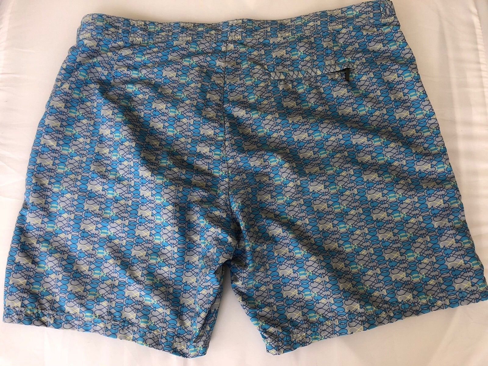 NWT $159 Boss Hugo Boss Tigerfish Mens Blue Swimsuit Shorts Size Large - BAYSUPERSTORE