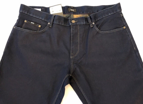 NWT $155 BOSS Hugo Boss Maine 1 Mens Regular Fit Blue Jeans  Size 38 US (54 Eu)