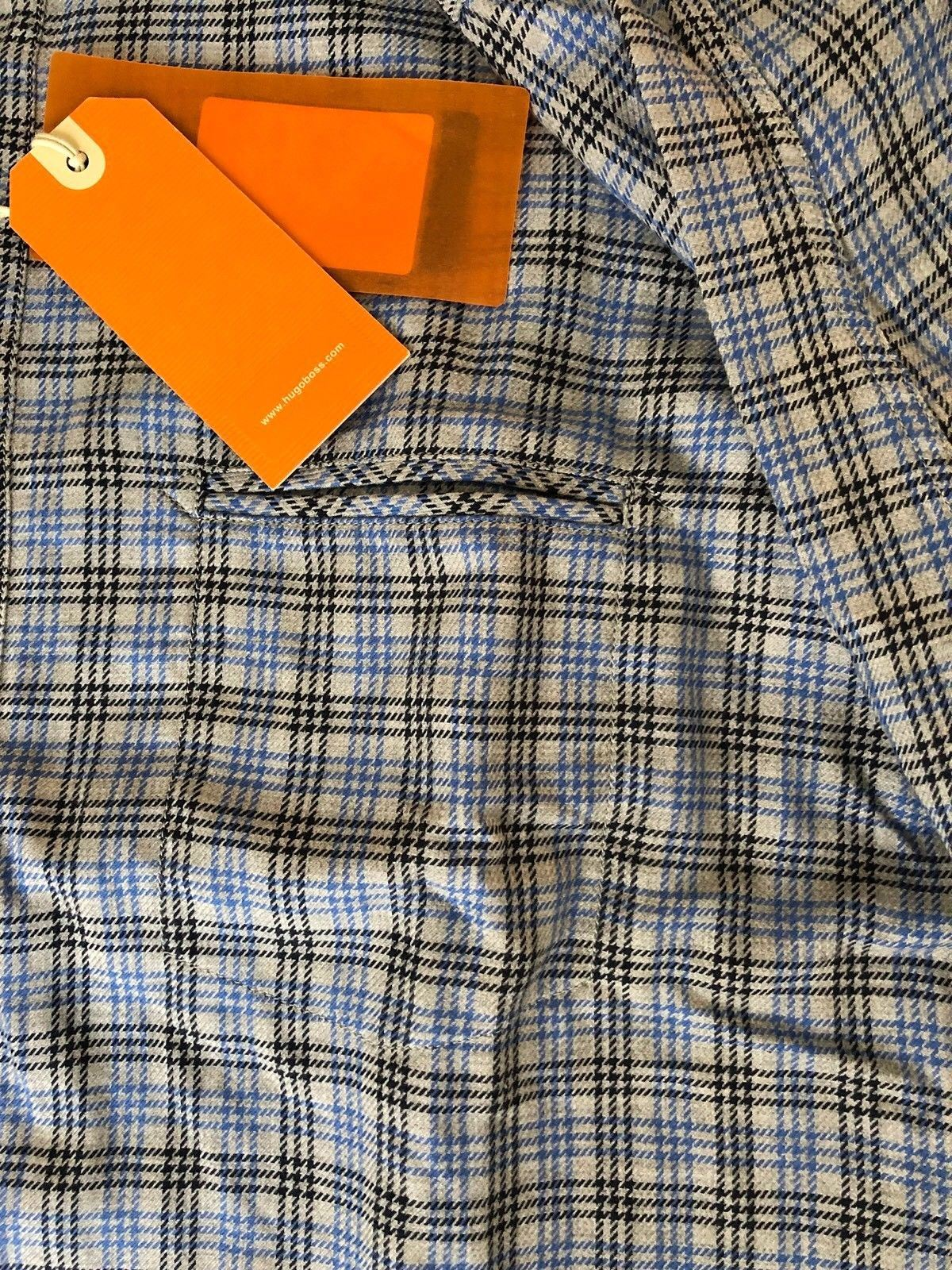 NWT $135 BOSS Hugo Boss Mens CieloebuE Dress Shirt XL - BAYSUPERSTORE