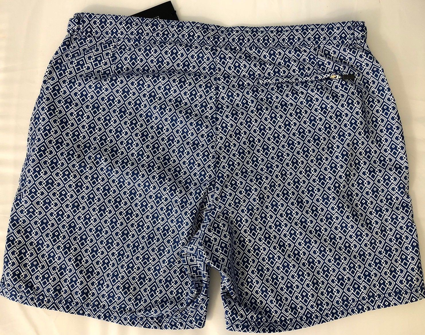 NWT $159 Boss Hugo Boss Tigerfish Mens Quick Dry Blue Swimsuit Shorts Size 2XL - BAYSUPERSTORE