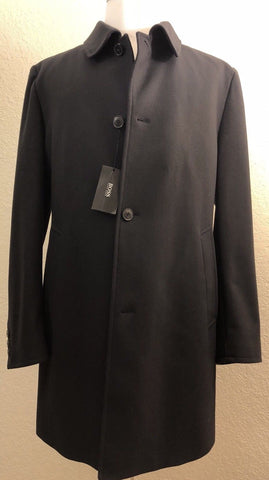 NWT $509 BOSS Hugo Boss Wool Coat Overcoat 46R US (56E Euro) Blue