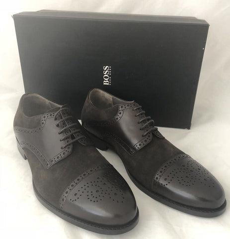 NIB $245 Boss Hugo Boss Suede/Leather Men's C-Gramix Shoes Brown 10 US 50299506 - BAYSUPERSTORE