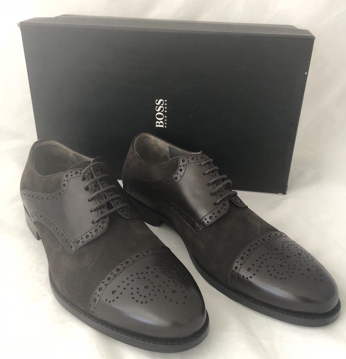 NIB $245 Boss Hugo Boss Suede/Leather Mens C-Gramix Shoes Brown 10.5 US 50299506 - BAYSUPERSTORE