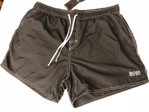 NWT $80 Boss Hugo Boss Lobster BM Mens Black Quick Dry Swimsuit Shorts Size XL - BAYSUPERSTORE