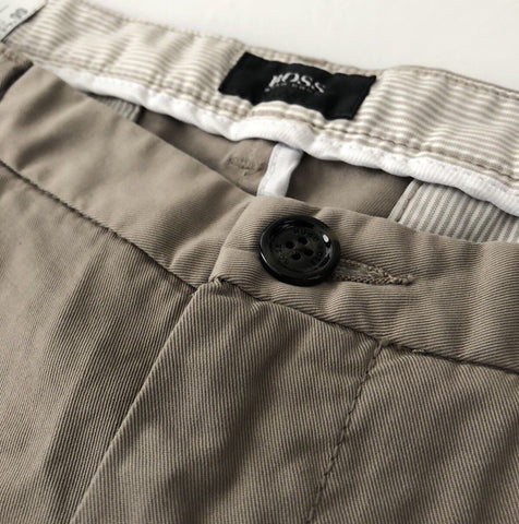NWT $135 Boss Hugo Boss RiceShort3-D Mens Slim Fit Beige Shorts 38R US - BAYSUPERSTORE