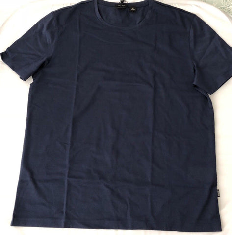 NWT $125 BOSS HUGO BOSS Tiburt 07 Regular Fit Short Sleeve Navy T-Shirt L