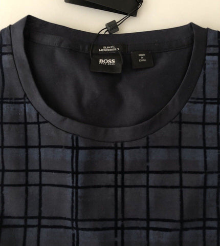 NWT $105 BOSS HUGO BOSS Tessler 21 Sim Fit Short Sleeve T-Shirt Dark Blue 2XL
