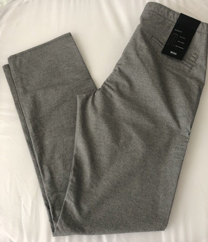 NWT $155 Boss Hugo Boss Rice 1-W Gray Casual Slim Fit Mens Pants 52 Eu (36 US)